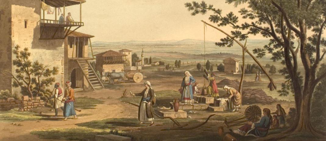 Αγροτική σκηνή στο χωριό Νίκαλη της Λάρισας (1805-1806) – Διαδραστική εικόνα