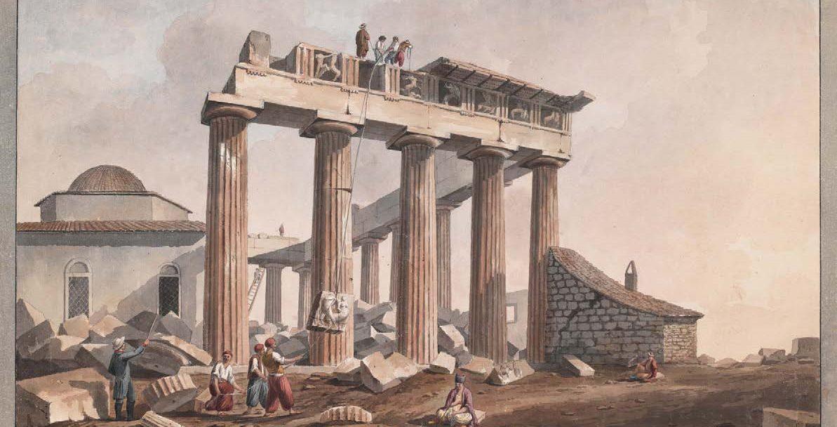 Η αφαίρεση των γλυπτών του Παρθενώνα από τον Λόρδο Έλγιν το 1801 – Διαδραστική εικόνα