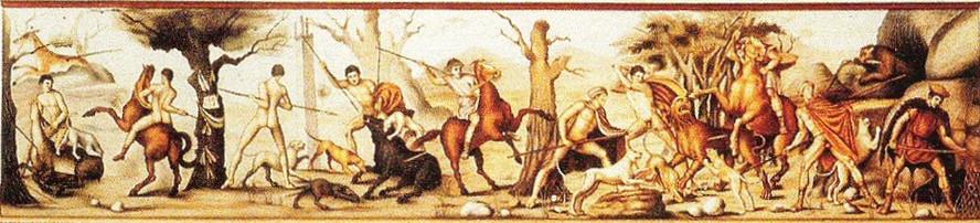 «Τοιχογραφία του κυνηγιού» από τον τάφο του Φίλιππου Β΄
